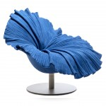 Kenneth Cobonpue - BLOOM Easy Armchair kobaltblau