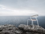 curve chair on cliff